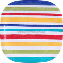 """100% melamine square dinner plate with colorful lines 10.5"""""""