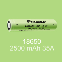 High Buyer Ratings rechargeable battery 18650 Facolo 3400mah Facolo 18650b 5000mah 2500mah Facolo 18650 battery