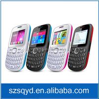 "Cheap Qwerty keypad Unlocked Phone D101 2.0"" TFT SIM Quad Band Facebook FM Bluetooth 0.3MP Camera Elder Phone Fashion Cellphone"