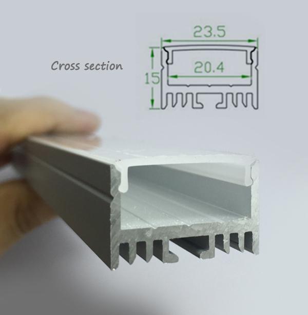 China lighting u tipo de perfil de aluminio para tiras de - Perfil aluminio u ...