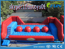inflatable jumping big ball wipeout / inflatable wipe out big balls / big ball wipe out inflatable game