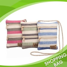 Fancy cute small handmade canvas cotton cross body bag