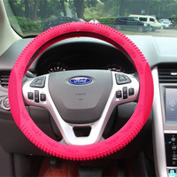 Car interior decoration pink steering wheel cover