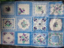 100% polyester pigment print handkerchiefs