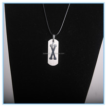 """Stainless steel new arrival alphabet """"W"""" engrave charm pendant necklace cheap"""