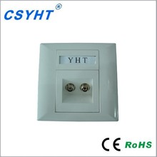 Fiber Optic Network Faceplate Wallmount With Top Quality