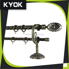 good strength twisted lines smooth metal curtain rods for home decoration