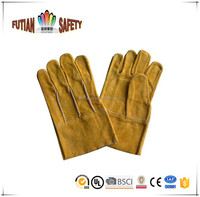 FTSAFETY hot sale JAPAN style back seam cow split leather working gloves