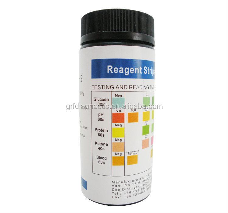 L 39 analyse d 39 urine kit bandelettes de test test visuel for Table 6 simulated urine protein test