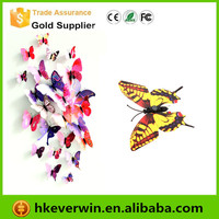 Artificial Butterfly 3D Fridge Magnet Double Wing for Home Christmas Wedding Decoration