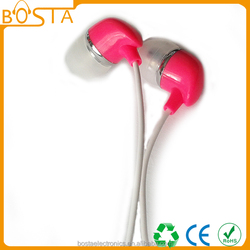 China Wholesale Free Sample Colourful 3.5mm Waterproof Earphone Earbuds