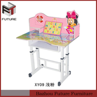 Cheap Kids Adjustable Drawing Study Desk and Chair with Tablet