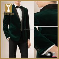 Bespoke High Quality Mens Tuxedo Green Velvet Suits Design