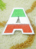 custom design low price embroidery velcro letter for dress by factory