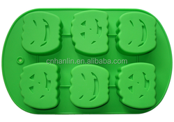 Silicone Halloween Pumpkin Cake Mold Cookies Mould Baking Tools FDA LFGB