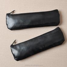 black zipper pu eyebrow pencil bags