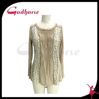 Long sleeve round neck women tank top from China supplier