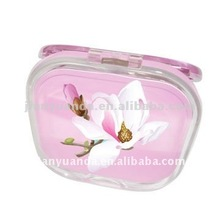 Business Promotion Gift 2X magnifying Makeup Mirror Beautiful decorated Purse mirror for Lady
