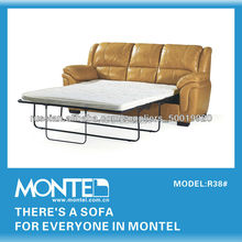 Factory directly provide high quality folding double leather sofa bed R38#