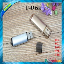 bulk transparent plastic case usb flash drive OEM