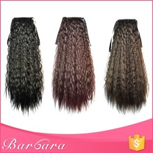 26 Inch Afro Kinky Curly Real Brazilian Remy Human Hair Drawstring Ponytail Natural Hair Extensions For Black Women