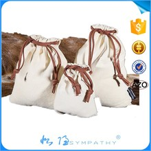 2015 hot selling small linen/cotton drawstring gift bags