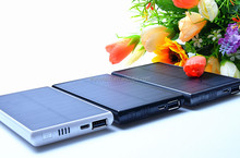 Real capacity 5000mah slim manual for solar power bank battery charger for tablet