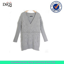 korean pullover sweater,acrylic v neck girls long sleeve sweater pullover