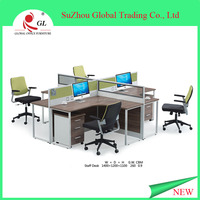 2015 comfortable luxury 4 person office workstation/office furniture