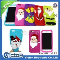 Colorful Christmas X'mas gift Silicone cellphone case for IP6