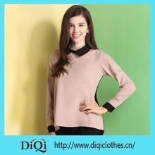 2015 new design fashion ladies top woman blouse long sleeve chiffon blouse