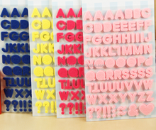 factory high quality alphabet felt sticker for scrapbooking