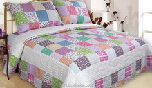 Patchwork Bed Sheets - Brushed Polyester - Color floral plaid