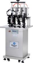 2014 sinaekato hot sell semi automatic glass bottle vacuum perfume filling machine