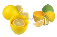 Kitchen Utensil Lemon Shaped Storage Container Plastic Lemon Crisper