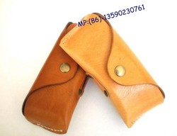 Genuine leather sunglasses bag, leather glasses bag real leather for wood sunglasses, different colors can choose