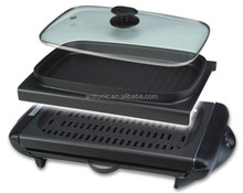 NEW ITME 2 in 1 Electrical bbq Grill with glass lid with GS, CE.ROHS