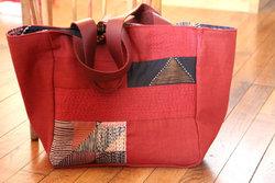 Wholesale Red Beauty Linen Bag/Handmade Tote Bag