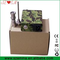 Portable vaporizer Camo Enail controller box 120v enclosed coil heater factory price dnail Camo Enail