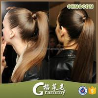 Fast Shipping hair extension virgin natural hair human hair ponytail