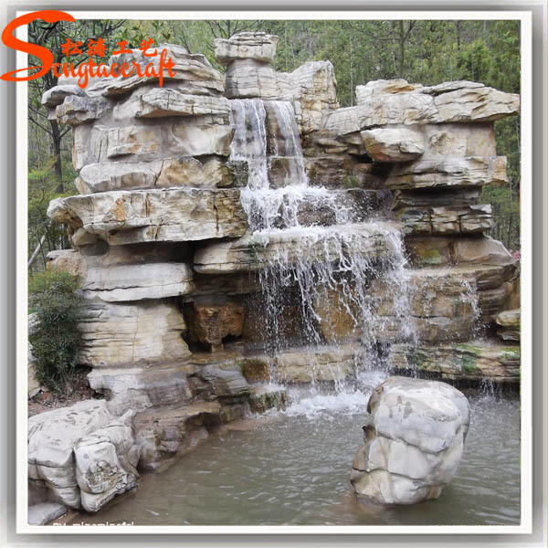 Large outdoor garden decorative water fountains wholesale for Garden rock waterfall fountain