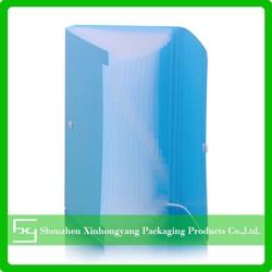 Customized plastic pockets file folder