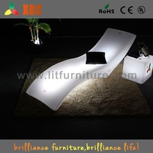 Outdoor Plastic Led Chaise Lounge Chair With Colors Changing