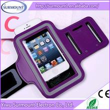 Multiple Mobile phone sport armband case with key holder and headphone jack