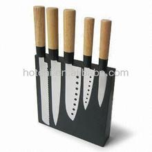 5-piece Knives Set with Magnetic Holder and Japanese Chef Knife