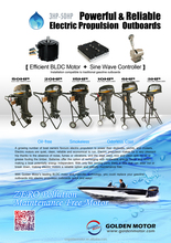 3HP,6HP,10HP,15HP,20HP, 50HP electric propulsion outboard,marine boat motor with New Sine Wave controller for sale China