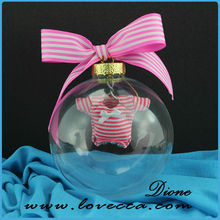 High quality clear glass christmas balls wholesale with cloth inside