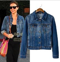 EY0658A 2015 wholesale new style long sleeve denim jacket women cheap denim jaket