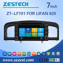 HOT SELL 7inch car dvd auto steering wheel for Lifan 620 3G WiFi OBDII system