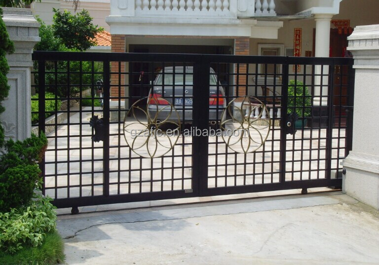 Villa gate design ideas : Villa metal yard gate cattle modern main